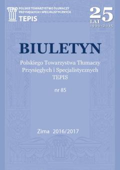 TEPIS Biuletyn 85